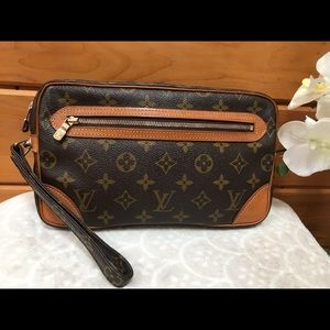 Auth Louis Vuitton Marly Dragonne GM